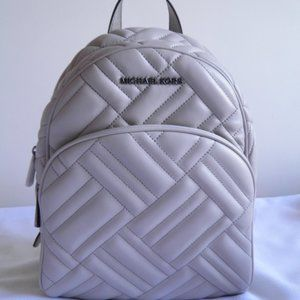 MICHAEL KORS ABBEY BACKPACK QUILTED LEATHER